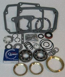 Ford T18 4 speed Transmission Rebuild Kit with Synchros Fits '65+ with 20mm Thick Input Bearing Automotive