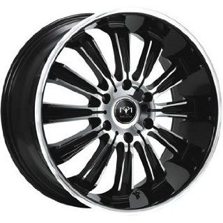Motiv Maximus 22x9.5 Chrome Black Wheel / Rim 6x5.5 with a 35mm Offset and a 108.00 Hub Bore. Partnumber 405CB 2298435 Automotive