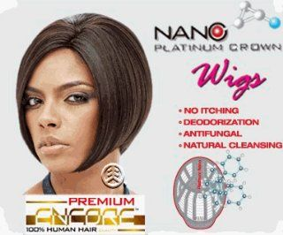Janet Collection Premium Encore Human Hair Nano Platinum Wig Ara Color FR4/30 Health & Personal Care