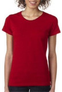 Gildan Missy Fit Heavy Cotton T Shirt Antique Cherry Redl