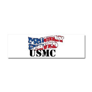Car Magnet 10 x 3 United States US American Flag Military Marine Corps Proudly Served USMC