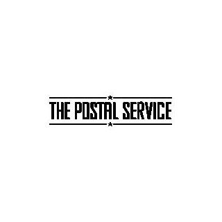 THE POSTAL SERVICE BAND WHITE LOGO VINYL DECAL STICKER
