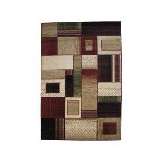 Area Rug in Brown / Green / Red / Tan   5' x 8'   Sequoia Collection   RUSEQU0508 103 30