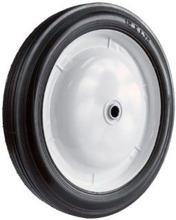 Martin Wheel 113 12 by 1.75 Inch Light Duty Steel Wheel for Lawn Mower, 1/2 Inch Ball Bearing, 2 1/4 Inch Centered Hub, Rib Tread Patio, Lawn & Garden