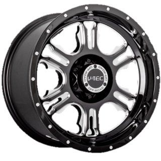 "V TEC Rage 397 Gloss Black Milled Spoke Rear Wheel with Chrome Bolts (17x9""/5x127mm) Automotive"
