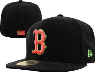 Boston Red Sox New Era 59FIFTY Black Neon 'Yeezy' Fitted Hat  Sports Fan Baseball Caps  Sports & Outdoors