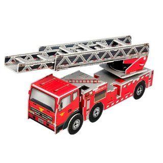 Jigsaw 3D Puzzle Transportation   Fire Truck (Ladder lift truck) Toys & Games
