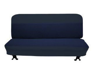 Acme U104 123 Front Navy Blue Vinyl Bench Seat Upholstery with Indigo Woven Cloth Inserts Automotive