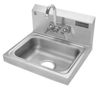 Griffin H30 124C Hand Wash Wall Mounted Sink with Faucet, Stainless Steel   Utility Sink