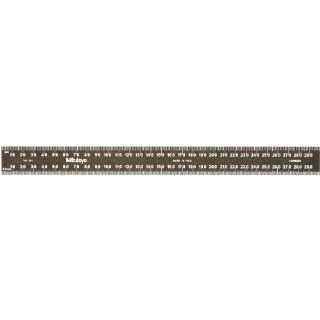 Mitutoyo Steel Rule, Black Chrome Finish Tempered Stainless Steel, Metric Construction Rulers
