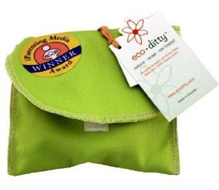 Snack Ditty organic snack bag, Spring Green (solid). SKU PAS1049475   Reusable Lunch Bags