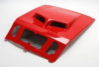 2011 Polaris Ranger RZR 4 800 EPS Robby Gordon Custom Hood Scoop   Red, Manufacturer Maier Mfg, RZR SCOOP HOOD 2011 F.RED Automotive