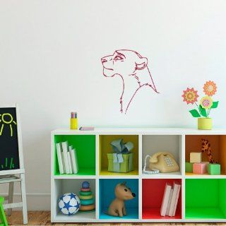 Housewares Wall Vinyl Decal Cartoon Lion Animal Nursery Room Art Decor Removable Stylish Sticker Mural Unique Design for Any Room 137   Wall Murals