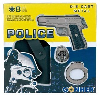 Die cast metal 8 shot ring caps pistol GONHER shot pistol revolver rifle gun collection 131_0 police made in EUROPE. Toys & Games