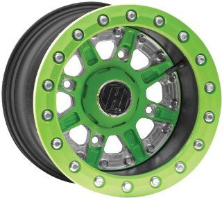 Hiper Wheel Sidewinder 2 Wheels   12x7   5+2 Offset   4/136,4/137   Green , Position Front/Rear, Wheel Rim Size 12x7, Rim Offset 5+2, Bolt Pattern 4/136,4/137, Color Green 1270 KCAGN 52 SBL GN Automotive