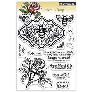 Penny Black 30 145 Clear Stamp, Sweet as Honey Arts, Crafts & Sewing