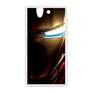 Iron Man Sony Xperia Z Back Cover Case Hard Plastic Sony Xperia Z Case Cell Phones & Accessories