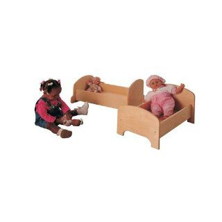 "Childs Play Hardwood Doll Cradle, 25"" Length x 14"" Width x 12"" Height"