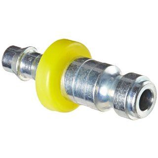 "Dixon Valve DCP142L Steel Air Chief Automotive Interchange Air Fitting, Quick Connect Plug, 1/4"" Coupling x 1/4"" Push On Hose ID Barbed, 37 CFM Flow Rating"