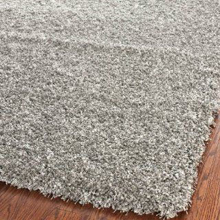 Safavieh Shag Collection SG151 7575 Silver Shag Area Rug, 4 Feet by 6 Feet   Grey Shag Rug