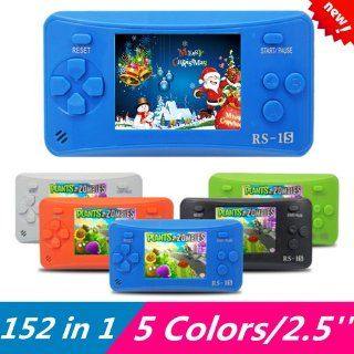 152 in 1 RS1 2.5 inch LCD Handheld Game Player Console  AV Out Built In 156 Games (Best Gift for Kids) Blue  Handheld Electronic Games   Players & Accessories