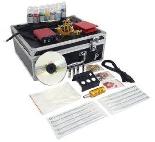 TATTOO KIT 1 GUN SINGLE Machine 153 PIECES Hard Case Health & Personal Care