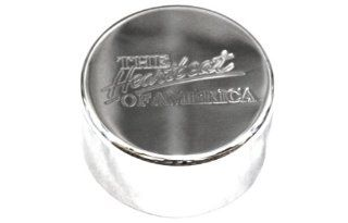 Billet Custom (GMBC 148 HEART POL) Polished 'Heartbeat' Washer Fluid Cap for Chevrolet Camaro Automotive