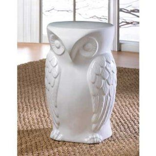WISE OWL CERAMIC DECORATIVE HOME OR GARDEN STOOL Garden, Lawn, Supply, Maintenance Patio, Lawn & Garden