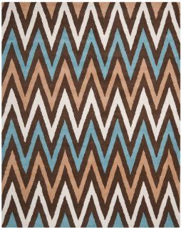Safavieh CHT151B Chatham Collection Wool Area Rug, 8 Feet by 10 Feet, Brown/Multi
