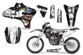MadHatter AMRRACING MX Graphics decal kit fits Yamaha YZ250F YZ450F (2003 2005) Black White BG Automotive