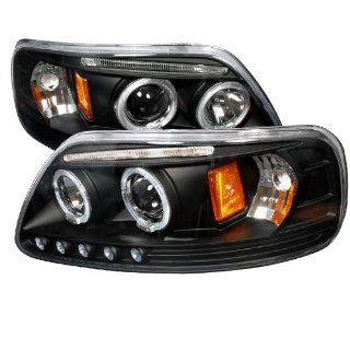 Ford F150 Led Dual Halo Black Projector Head Lights Automotive