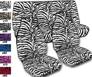 "Complete set of White ""Zebra"" seat covers for a Jeep Wrangler TJ (1997 2006). Automotive"