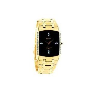 Armitron Men's 20/4541BKGP Swarovski Crystal Accented Gold Tone Bracelet Watch Watches