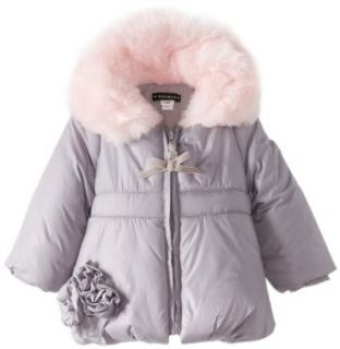 Kate Mack Baby Girls Pretty Kitty Infant Poly Filled Jacket, Grey, 18 Months Clothing