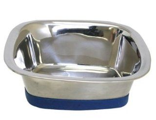 Pet Large Durapet Square Dog Bowl, dishwasher, metal, mixing, bowls, slow, feeding, animals, pets, cats Supply Store/Shop