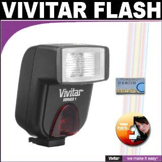 Vivitar Series 1 DF183 DSLR AF Bounce Flash For The Canon Digital EOS Rebel T1i, T2i, XSI, XS, XTI, XT, 50D, 40D, 30D, 20D, 10D, 5D, 1D, 5D Mark 2, 7D, G11, G10, G9, G7, SX20, SX10, SX1, S5 IS Digital SLR Cameras Camera & Photo