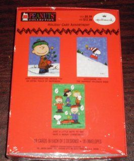 Hallmark Peanuts Snoopy Box 18 Christmas Cards Toys & Games