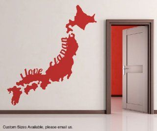 Vinyl Wall Decal Sticker I Love Japan OS_MB181B   Wall Decor Stickers