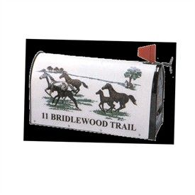 Rural Personalized  Mailboxes   Running Horses Strong Box Mailbox (TM)