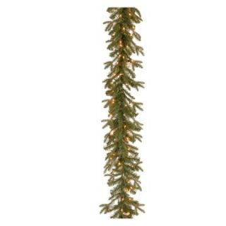 9 ft. Feel Real Tiffany Fir Pre Lit Garland   Christmas Garland