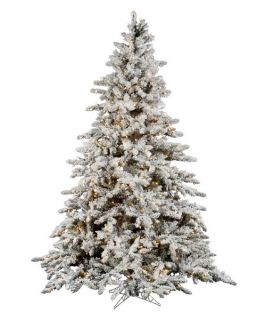 Vickerman 9 ft. Flocked Slim Utica Fir Multi LED Christmas Tree   Christmas Trees