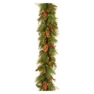 6 ft. White Pine Pre Lit LED Garland   Christmas Garland