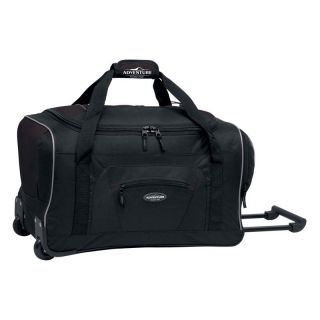 Travelers Club 22 in. Rolling Duffel Bag   Black   Sports & Duffel Bags