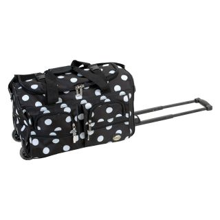 Rockland Luggage 22 in. Rolling Duffel Bag Dots   Luggage