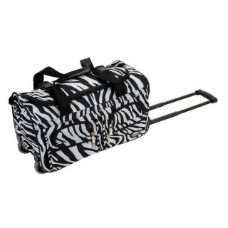 Rockland Luggage Zebra 22 in. Rolling Duffel Bag   Luggage