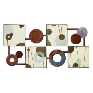 Colorful Abstract Circles Wall Decor   47W x 24H in.   Wall Sculptures and Panels