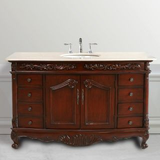 Design Element Heritage 61 in. Single Bathroom Vanity Set   Single Sink Bathroom Vanities