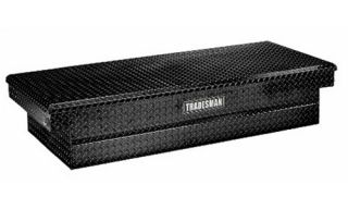Tradesman Full size Truck 71 in. Aluminum Cross Bed Push Button Tool Box   Truck Tool Boxes