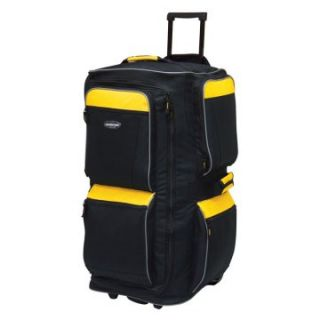 Travelers Club 29 in. 6 Pocket Rolling Upright Duffel Bag   Yellow/Black   Sports & Duffel Bags
