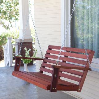 Bay Ridge Wood Porch Swing with Optional Swing Cushion   Porch Swings